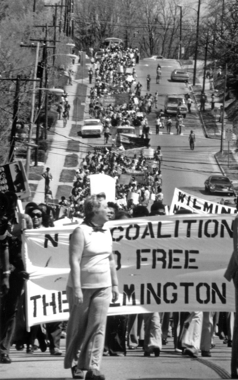 On April 1, 1978, the North Carolina Coalition to Free the Wilmington Ten held a massive march and rally through the streets of Raleigh.