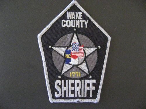 A picture of a Wake County Sheriff patch.