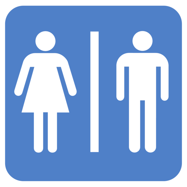photo of a unisex bathroom sign
