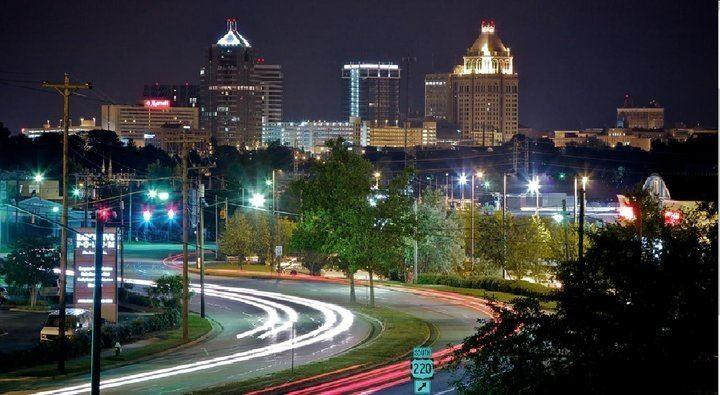 An image of the Greensboro city skyline
