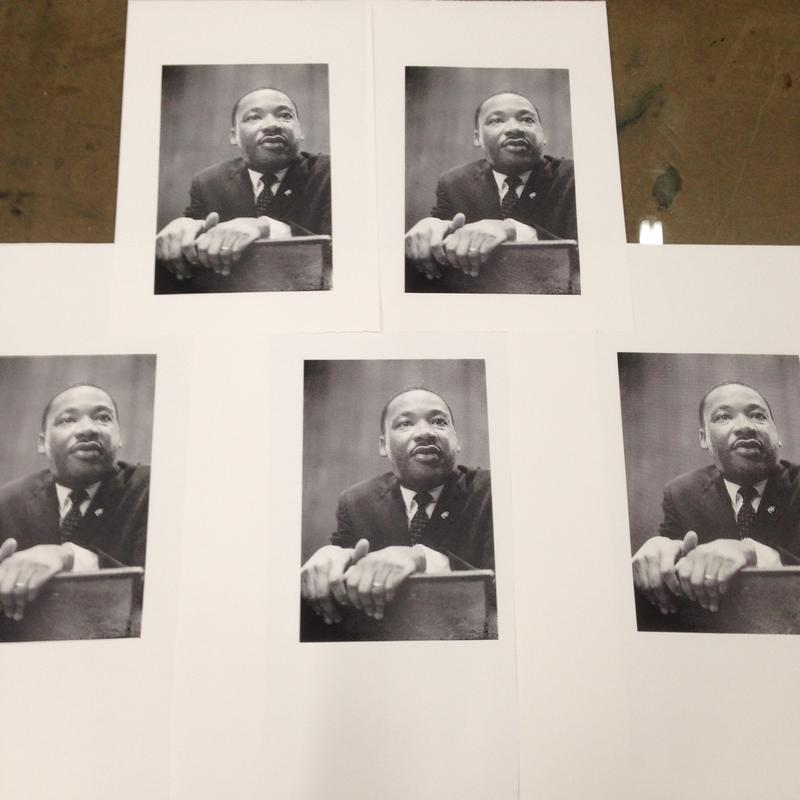 The image of Martin Luther King Jr. has become a symbol of the civil rights movement. Durham-based printmaker Bill Fick is making prints of this image to spur conversation about what iconography means in the digital age.