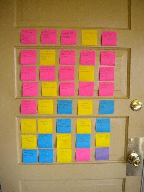Image of post it notes from 'Noah's Wife'