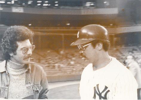 Tokyo Rosenthal talks with Yankee legend Reggie Jackson
