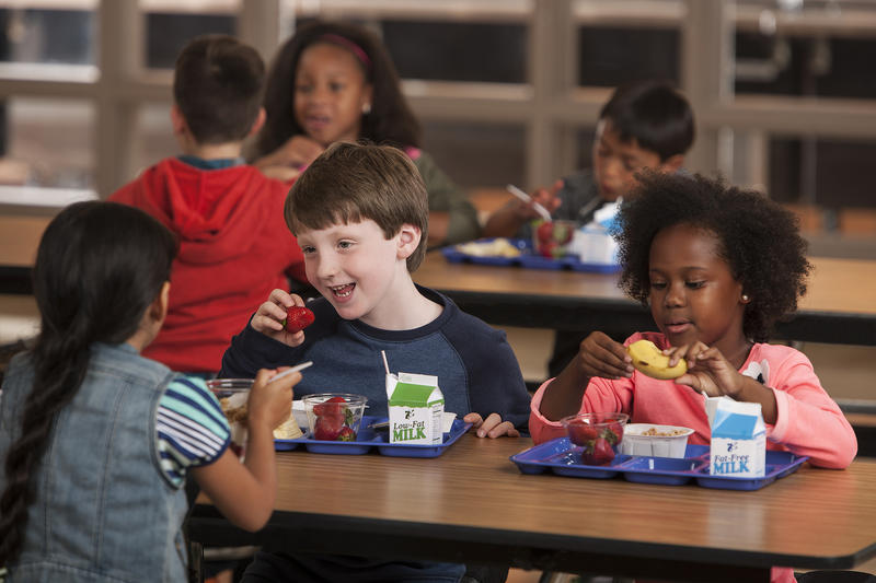 Image of children eating lunch