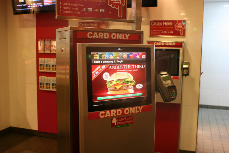 As technology advances, certain jobs will be lost to machines and automation in the future. Some fast food restaurants are already using more self-serve kiosks instead of cashiers.