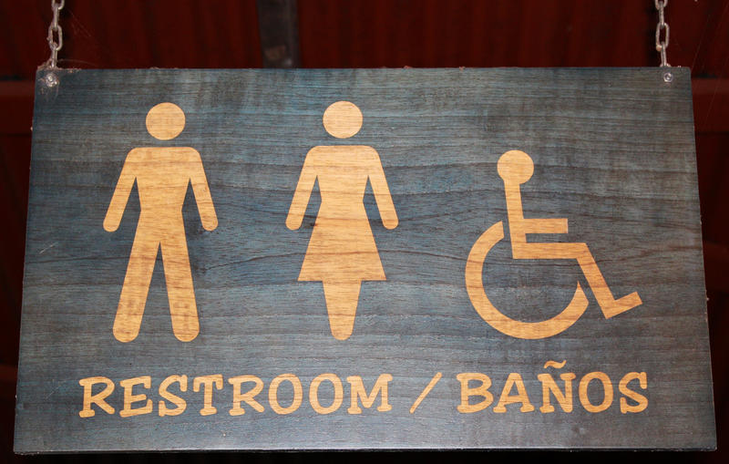 Image of bathroom sign