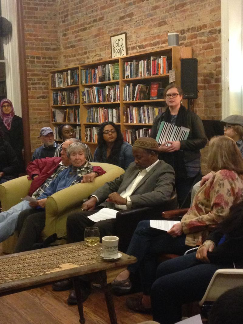Image of 'Ask A Muslim Anything' public series at Scuppernong Books