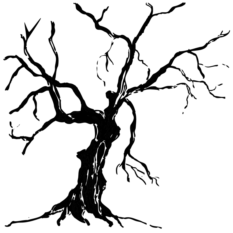 A drawing of a sick tree.