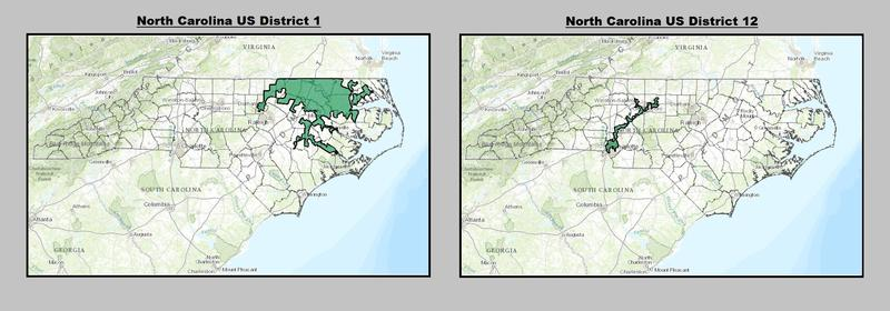 Photo: Federal judges have struck down North Carolina's 1st and 12th Congressional districts.