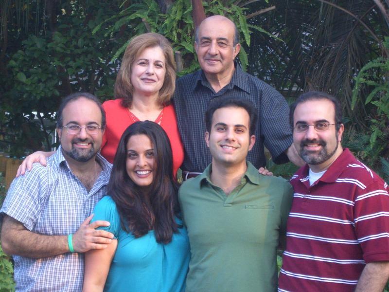Image of Omid Safi with his siblings and parents