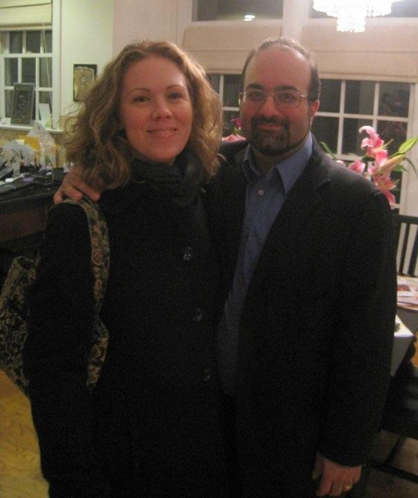 Omid Safi (R) with his wife Holly Frigon Safi, a lawyer.