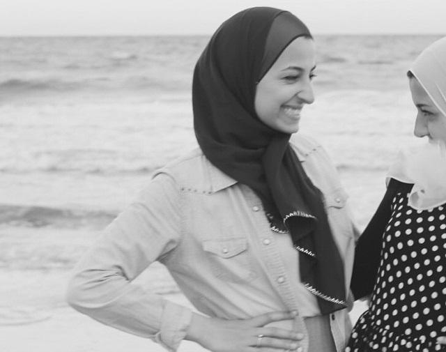 Photo: Yusor, left, and Razan Abu-Salha at the beach