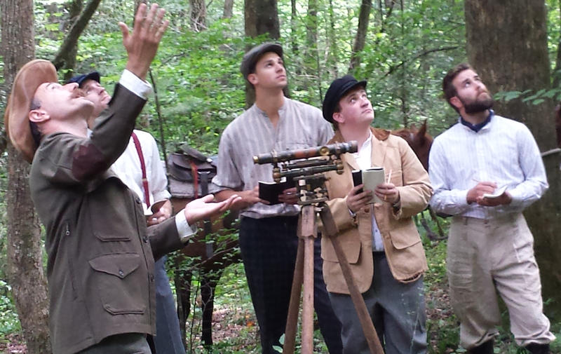 "A re-enactment from the film ""America's First Forest: Carl Schenck and the Asheville Experiment"""
