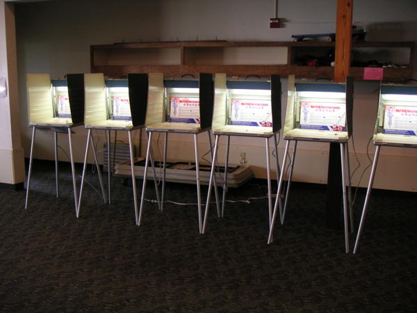 Image of voting booths