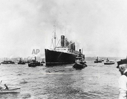 An imaged of the 'Lusitania.'