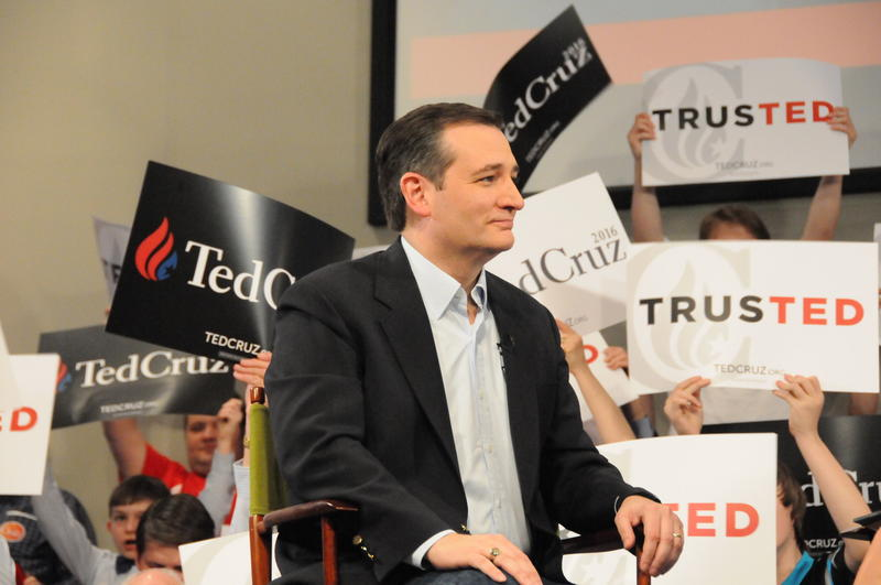 Ted Cruz visited a Raleigh Baptist church on Tuesday afternoon.