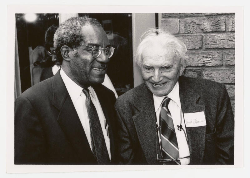 An image of former NCCU Chancellor Julius L. Chambers and Former NCCU professor Ernst Manasse.