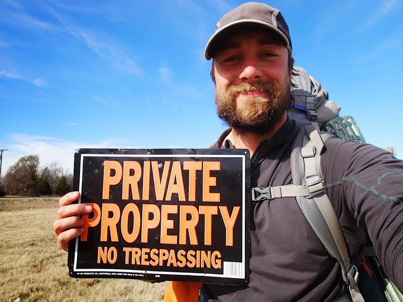 Ken Ilgunas often had to hike through private property to follow the proposed route of the Keystone XL pipeline