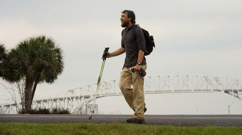 Ken Ilgunas arrives at the southern end of the pipeline on the Gulf coast of Texas