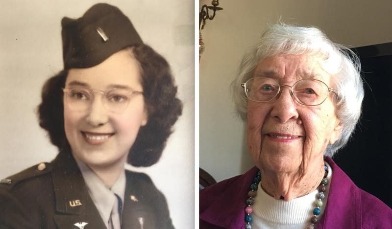 Dorothy Managan, 93, served as an Army nurse in Tacoma, Wa. after World War II. She recently added her life story to her medical record at the Asheville, N.C. VA Medical Center.