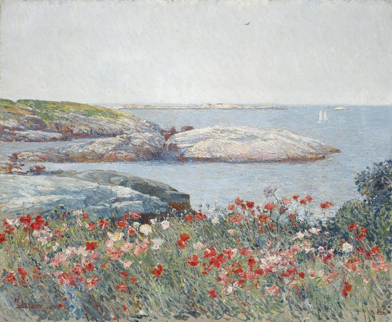Poppies, Isle of Shoals, Hassam