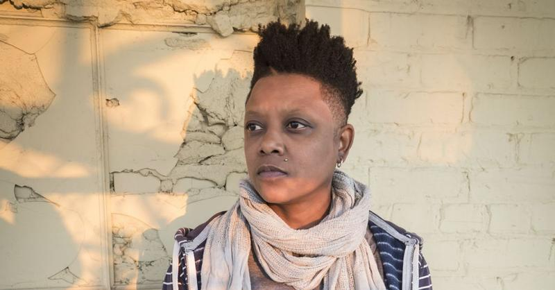 An image of Durham poet and musician Shirlette Ammons