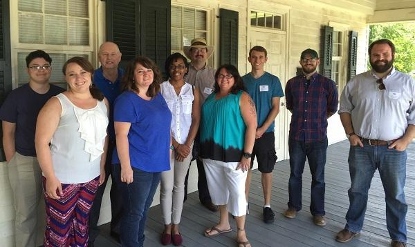 UNC system graduate students from across the state working with the NC Civil War History Center on story collection.