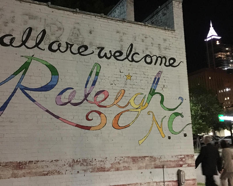 A mural outside Poole's Diner, at West Cabarrus and McDowell streets in downtown Raleigh