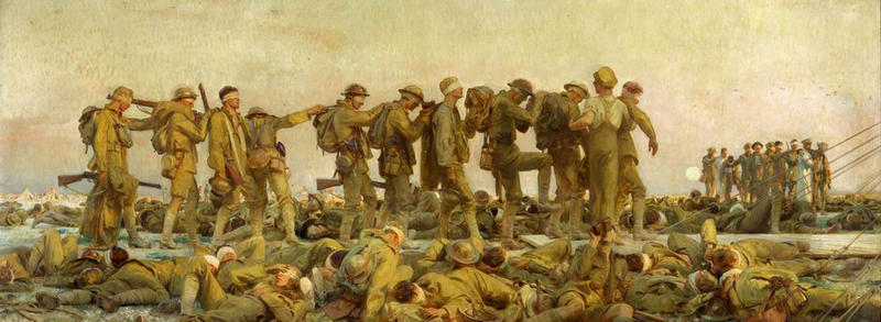 "An image of the painting ""Gassed"" by John Singer Sargent"