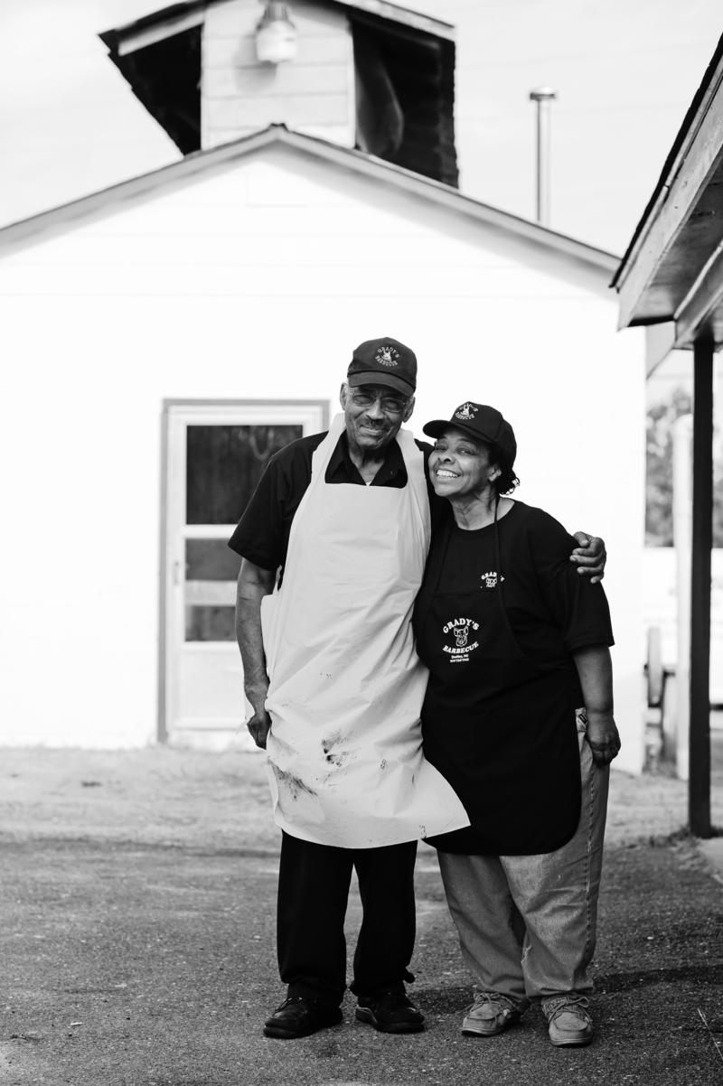 photo of Stephen and Gerri Grady -- Grady's Barbecue, Dudley, N.C.
