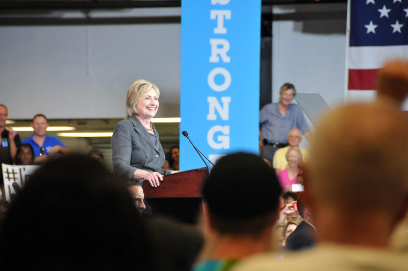 Hillary Clinton speaks in Raleigh