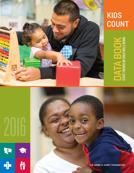 The cover of the 2016 Kids Count Data Book