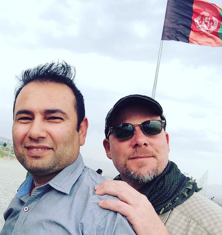 photo of David Gilkey and Zabihullah Tamanna