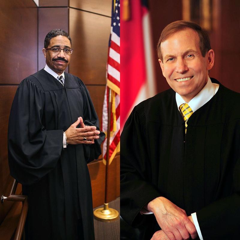Photo of Wake County Judge Mike Morgan and Incumbent Bob Edmunds