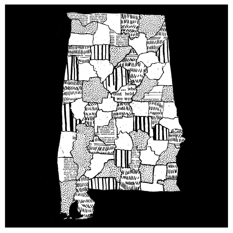 A drawing of Alabama.