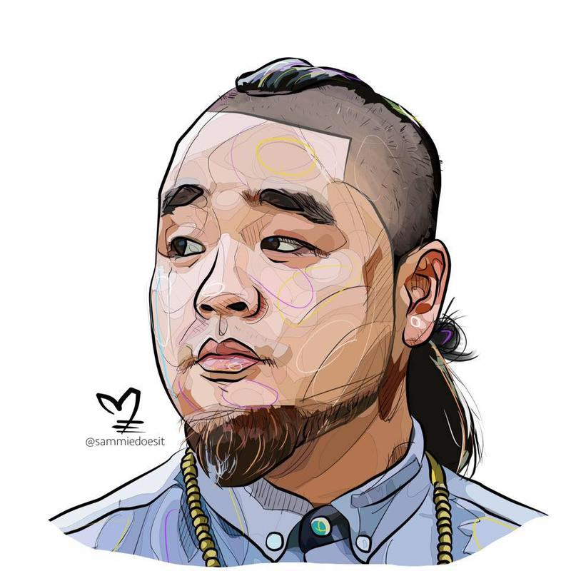 Animated picture of poet G Yamazawa.