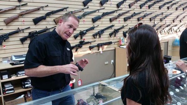 Ted Budd at the ProShots firearms complex