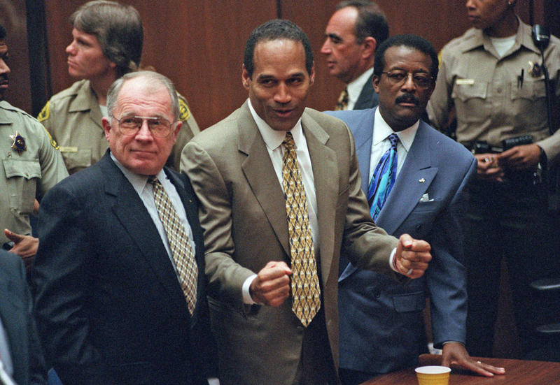 Photo of O.J. Simpson at his trial