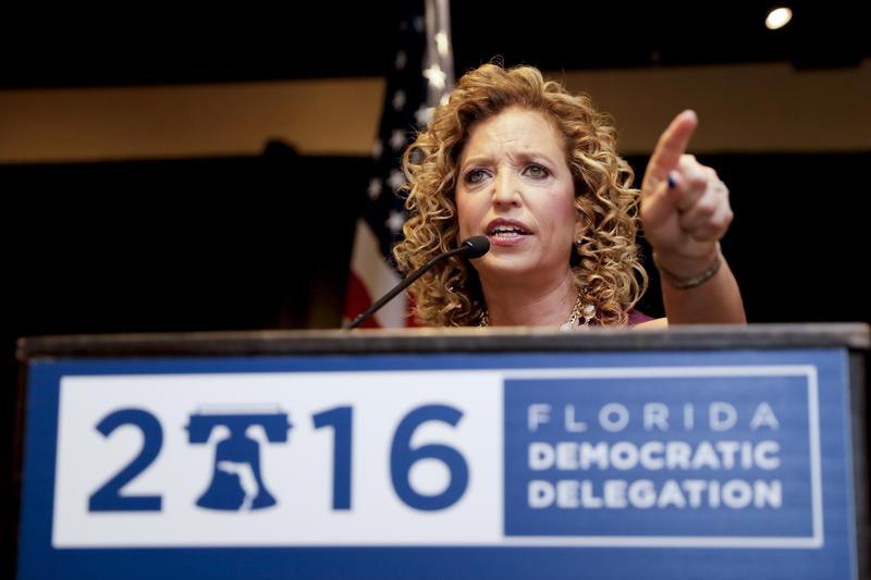 An image of former DNC chairwoman Debbie Wasserman Schultz