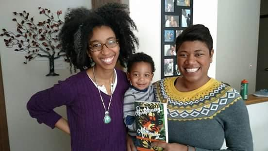 photo of Alexis Pauline Gumbs, her nephew, and stepsister