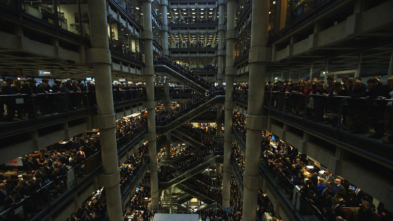 Film Still: A moment of silence at Lloyds of London.