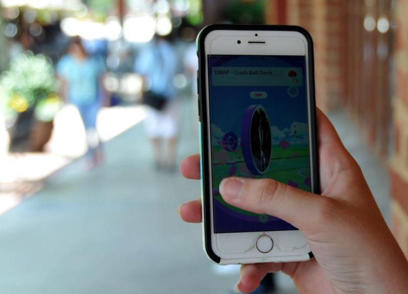iPhone screen with Pokemon GO on it.