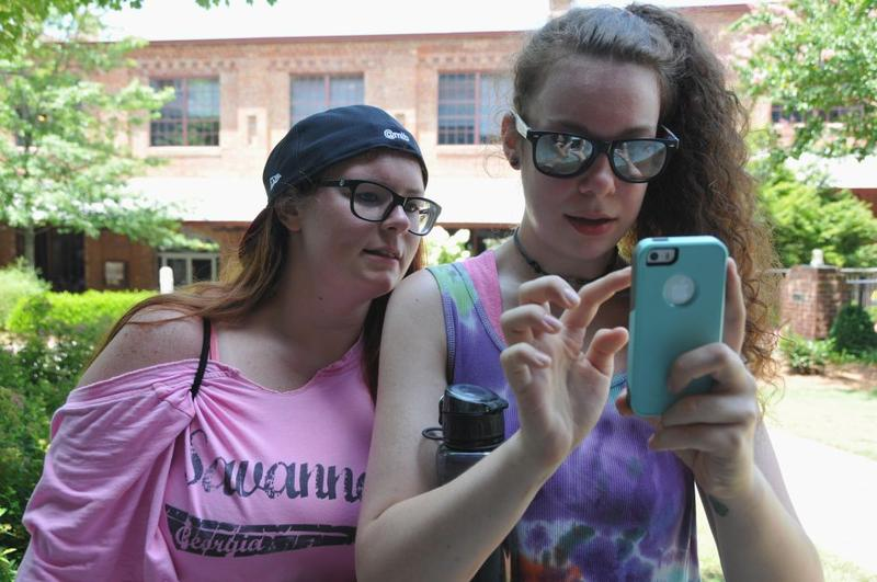 two 23-year-old women play Pokemon GO