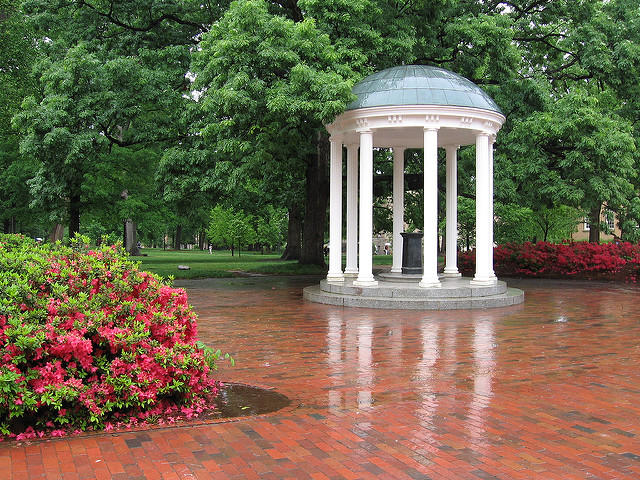 The old well at the University of North Carolina - Chapel Hill.
