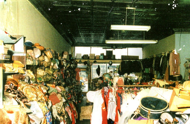 Photo of Sylvia Gray's thrift shop