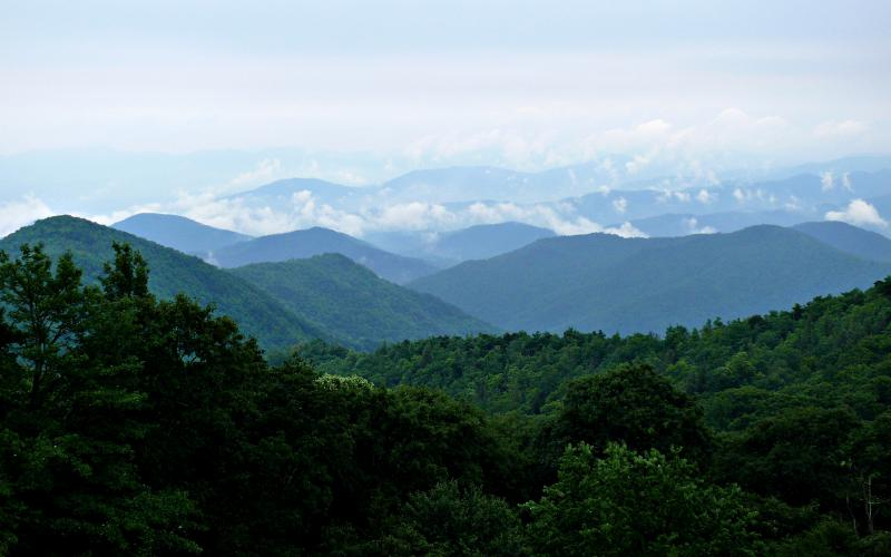 Photo of the Blue Ridge Mountains