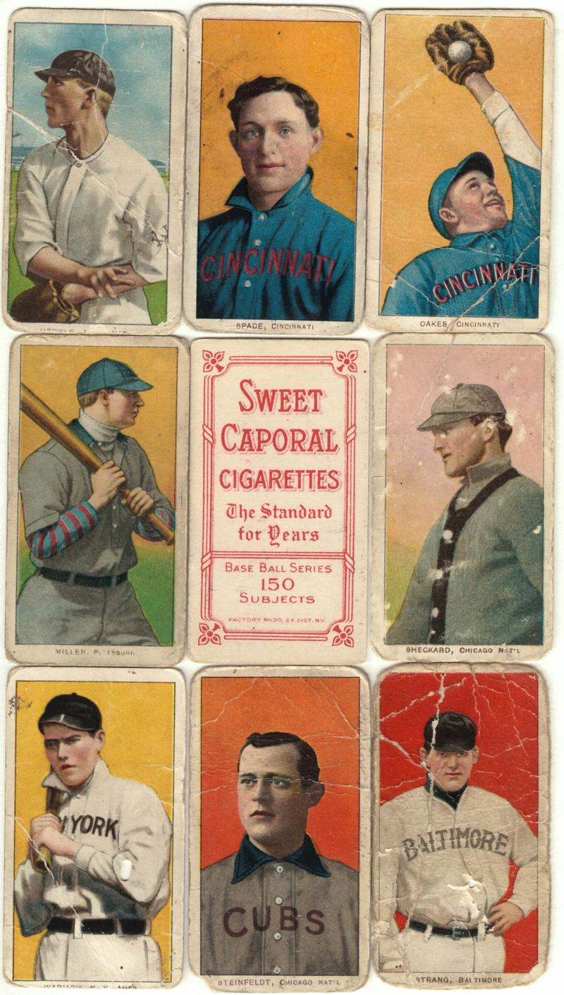 1909-1911 American Tobacco T206 Insert Cards, Various players.