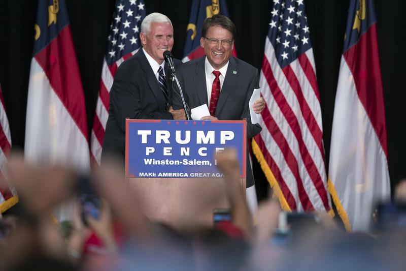 Photo of Mike Pence and Pat McCrory