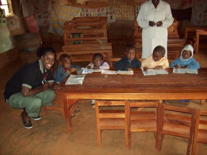 Kisha Daniels in Kenya