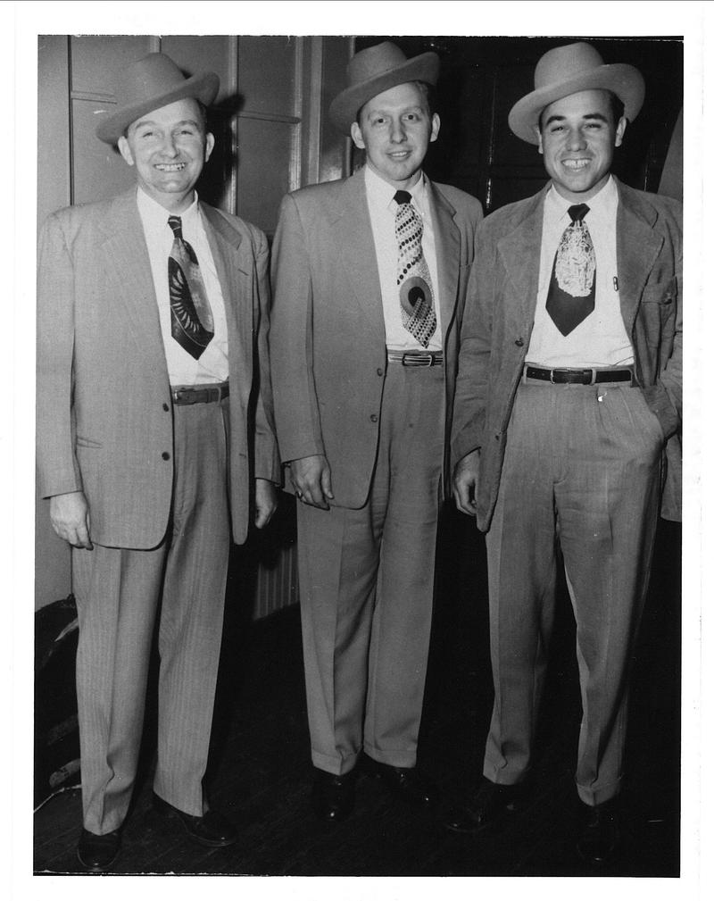 Photo of Lester Flatt, Curly Seckler and Earl Scruggs